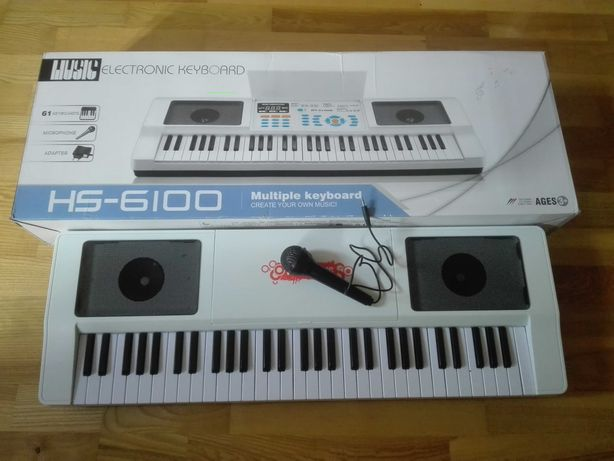 Electronic Keyboard 61 - HS 6100 B + podręcznik Yamaha Fun Key Kids