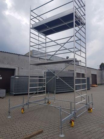 Rusztowanie aluminiowe jezdne przejezdne wieża wynajem wypożyczalnia