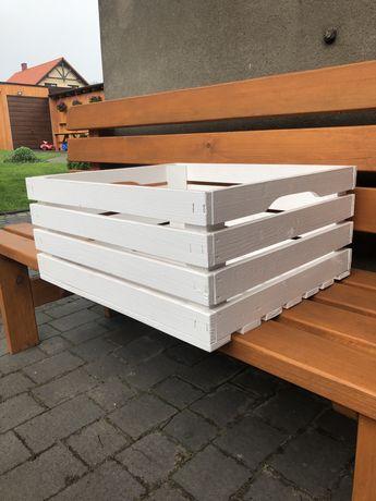 Skrzynki ozdobne białe 50x40