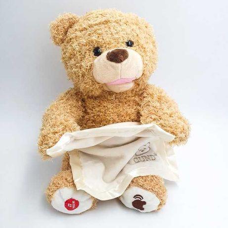 Мишка детская интерактивная мягкая игрушка медвежонок UKC Пикабу 30 см