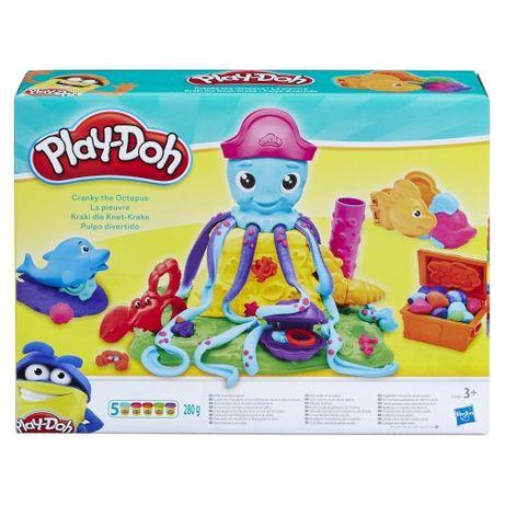 Игровой набор пластилин воздушный Play-Doh Веселый Осьминог Hasbro