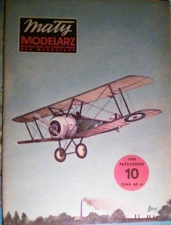 mały modelarz 10/85 samoloty SOPWITH CAMEL i TRIPLANE