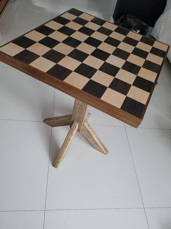 Piekna Szachownica stol do szachów z prawdziwego drewna