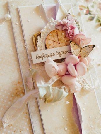 Karta na ślub,  kartka na ślub ręcznie robiona