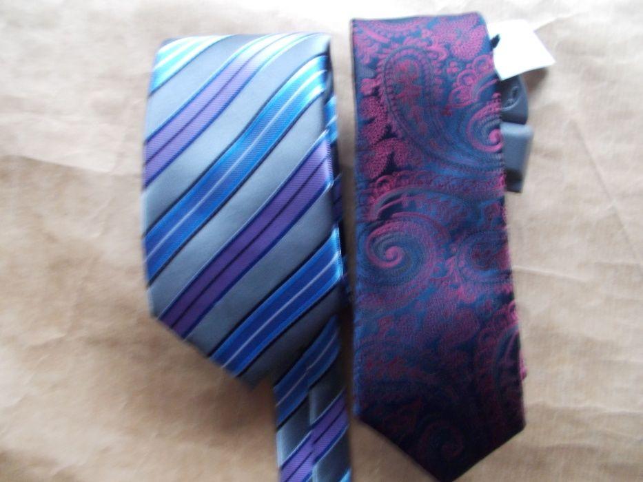 NEXT Designerskie 2 Nowe Krawaty -UK Tulce - image 1