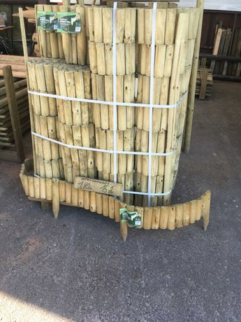 Rollborder rollbordery palisada paliki płotek Swadzim