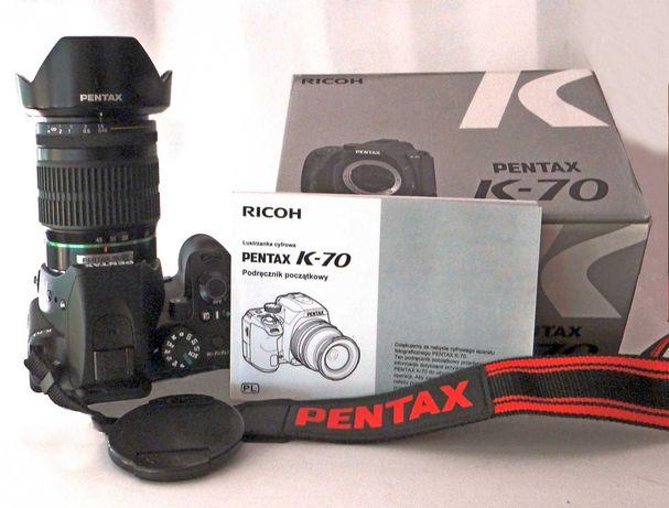Pentax K-70 mały przebieg z obiektywem Pentax 16-45/4