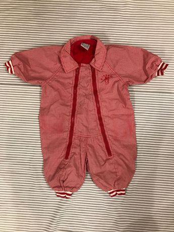 Wiosenny kombinezon dla dziewczynki +zestaw spodnie i bluzeczka roz.68