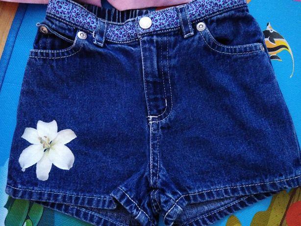 Krótkie spodenki (szorty) dżinsowe dla dziewczynki 12/18M