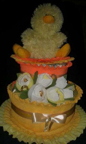 Торт из памперсов на подарок