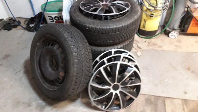 Opel kompletne koła zimowe,kołpaki 185/60/15,4szt czteroletnie Olsztyn