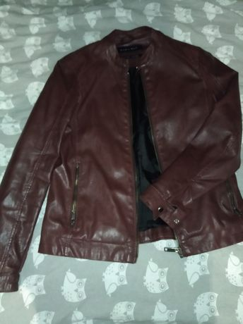 Zara man кожаная куртка