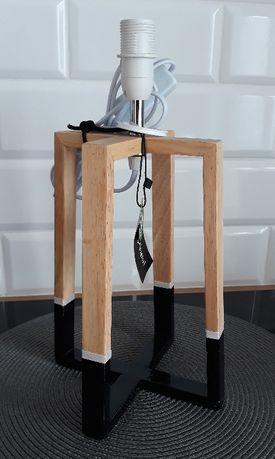 Lampa Lampka Stolowa Biurkowa Loft Industrial Skandynawska Geo Drewno