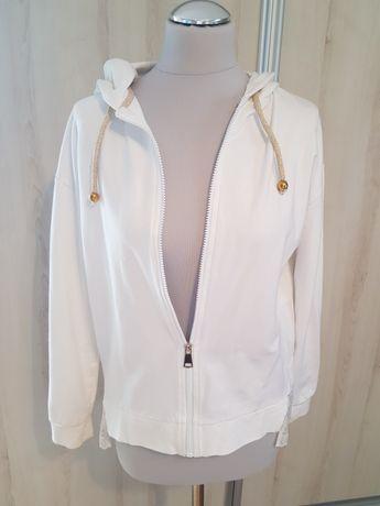 Bluza biała z koronką
