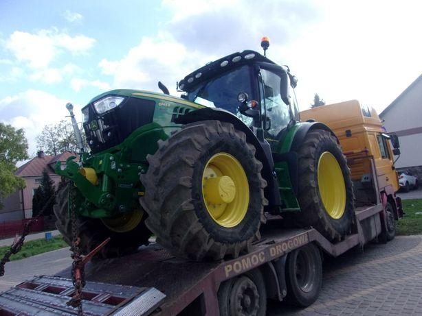 Transport maszyn rolniczych ciągniki kombajny wozy paszowe przyczepy