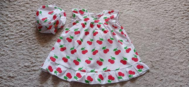 Платье для девочки с панамкой