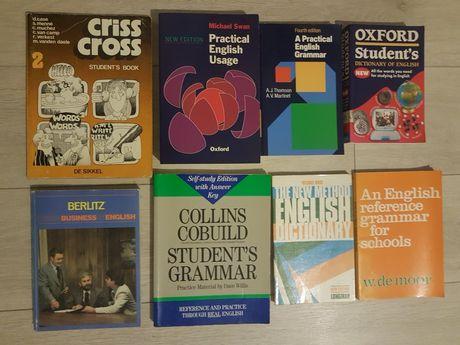 Książki do  nauki angielskiego .Słowniki