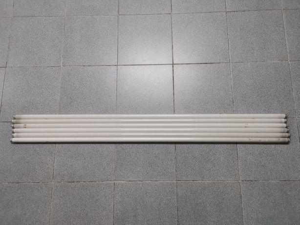 Conjunto de 6 lâmpadas fluorescentes 58W 150cm