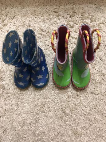 Резиновые сапоги чоботы 22 размер