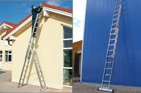 NEW Лестница - стремянка 3-х секционная 3x7 3x8 3x9 3x10 3x12 GERMANY