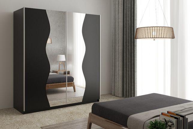 Szafa przesuwna pokój dziecięcy z lustrem GREK 15 na wymiar 200 cm