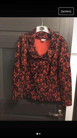 Pomarańczowo-czarny żakiet