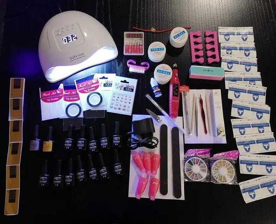 (NOVO) Kit Completo Manicure Unhas de Gel Catalizador 54w+Broca+46aces