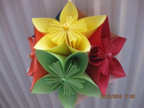 Kula kwiatowa origami