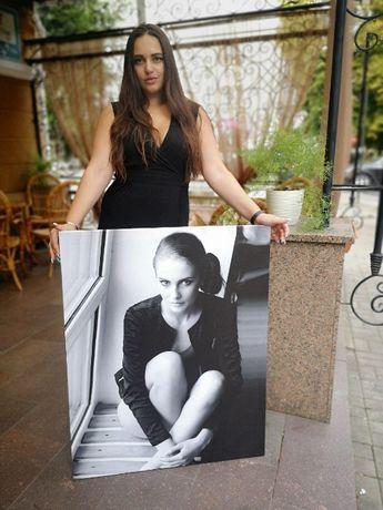 Картина(фото) на холсте.Портрет на холсте. Печать на холсте.подарок НГ
