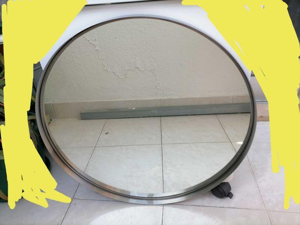 Espelho ikea com moldura e espelho novo sem moldura.