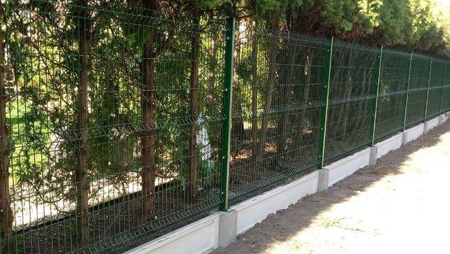 Panel ogrodzeniowy, panele ogrodzeniowe z MONTAŻEM obejmy podmurówki