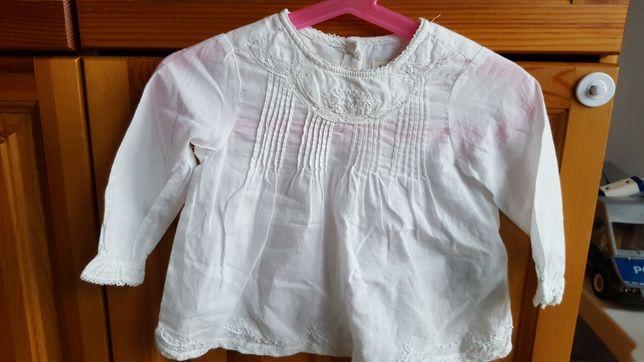 Zara mini bluzka haftowana 9-12mies. 80cm