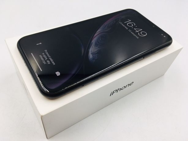iPhone XR 64GB BLACK • PROMOCJA • GWAR 1 MSC • AppleCentrum