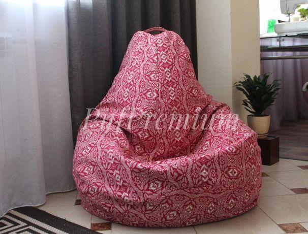 Кресло-мешок принт, пуф груша, собственное производство