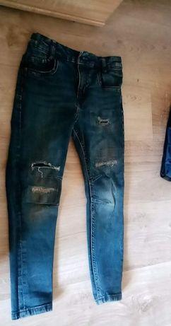 Spodnie jeans 116 122 dla chłopca