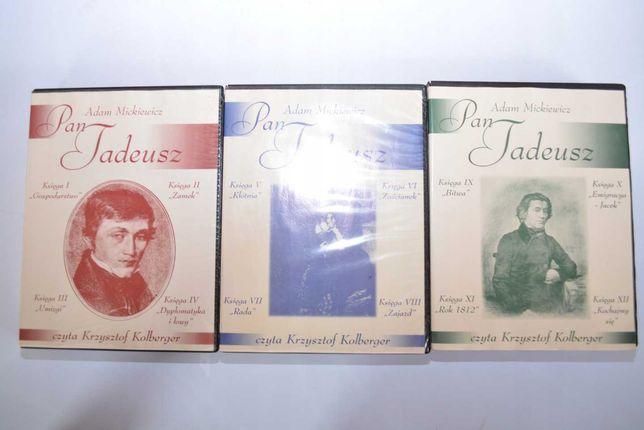Pan Tadeusz Adam Mickiewicz CD audiobook czyta Krzysztof Kolberger