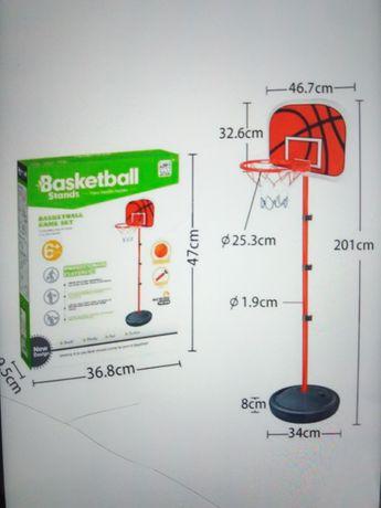 Детское баскетбольные кольцо на стойке с мячом 2м высота