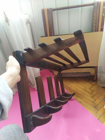 Вешалка для вещей, настенная, деревянная