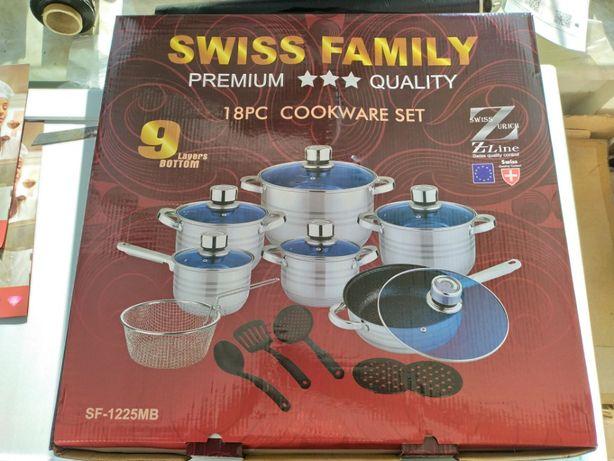 АКЦИЯ:Посуда Swiss Family 18предм+2 подарка
