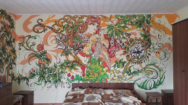 Розпис стін Закарпаття роспись стен Дизайн