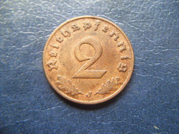 Stare monety 2 reichsfenigi 1938 J Niemcy / 2