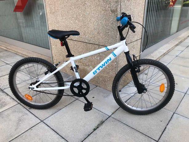 Bicicleta de trekking original 100 20 polegadas criança 6-9 anos