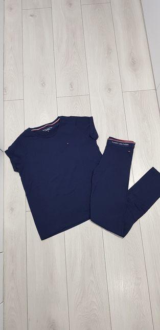 Komplet dres legginsy i koszulka Tommy Hilfiger r.xs 34