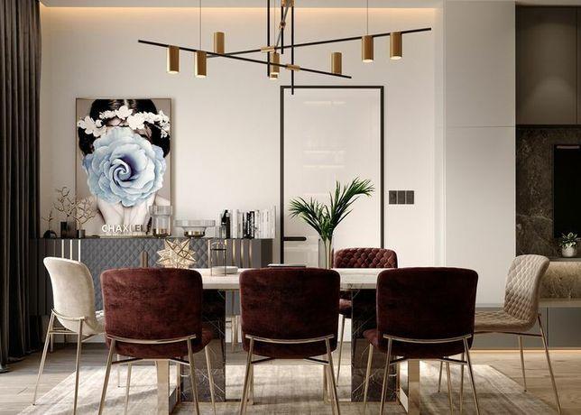 Candeeiro teto Chandelier led vintage moderno