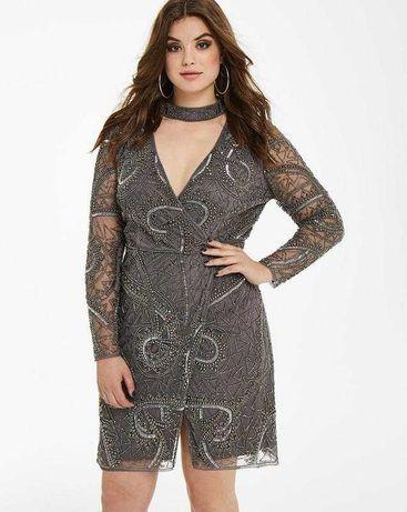 Maya curve оригинал вечернее платье вышивка бисер камни