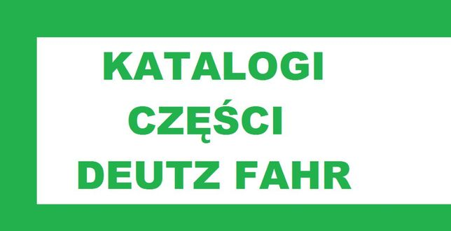 Katalog Części DEUTZ FAHR
