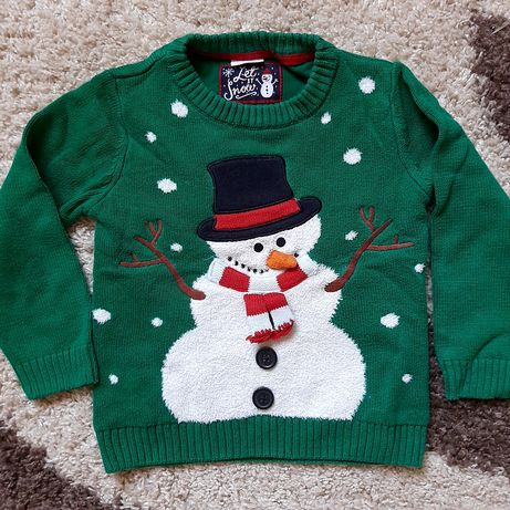 Новогодний свитер на 3-4года