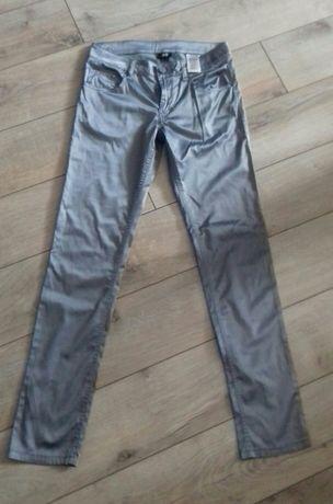 Spodnie H&M nowe 13-14 lat popiel