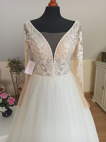 Suknia ślubna Melania kolor ivory rozmiar 36 38