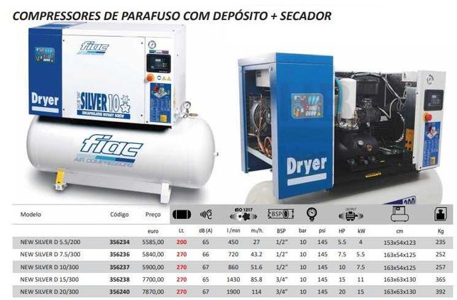 COMPRESSOR com depósito + secador